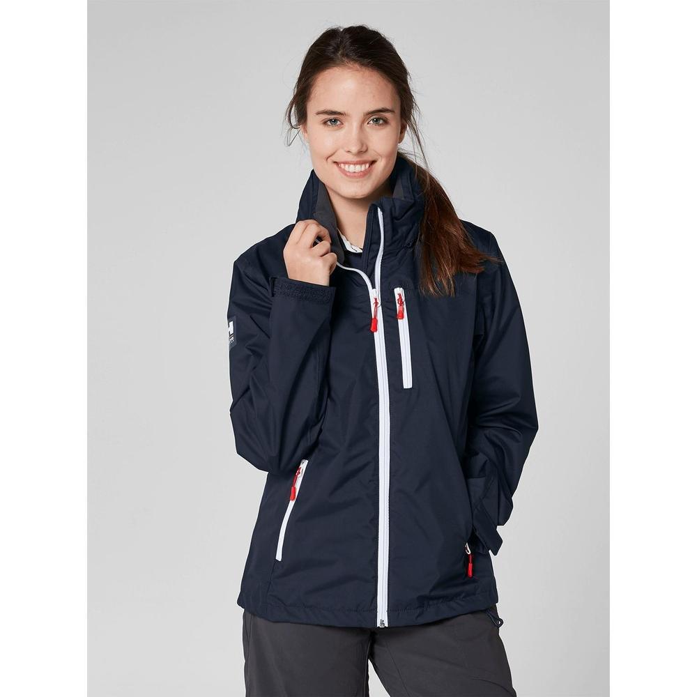 Helly Hansen Women's Crew Lightweight Waterproof Windproof Breathable Sailing Rain Coat Jacket with Stowable Hood 33899