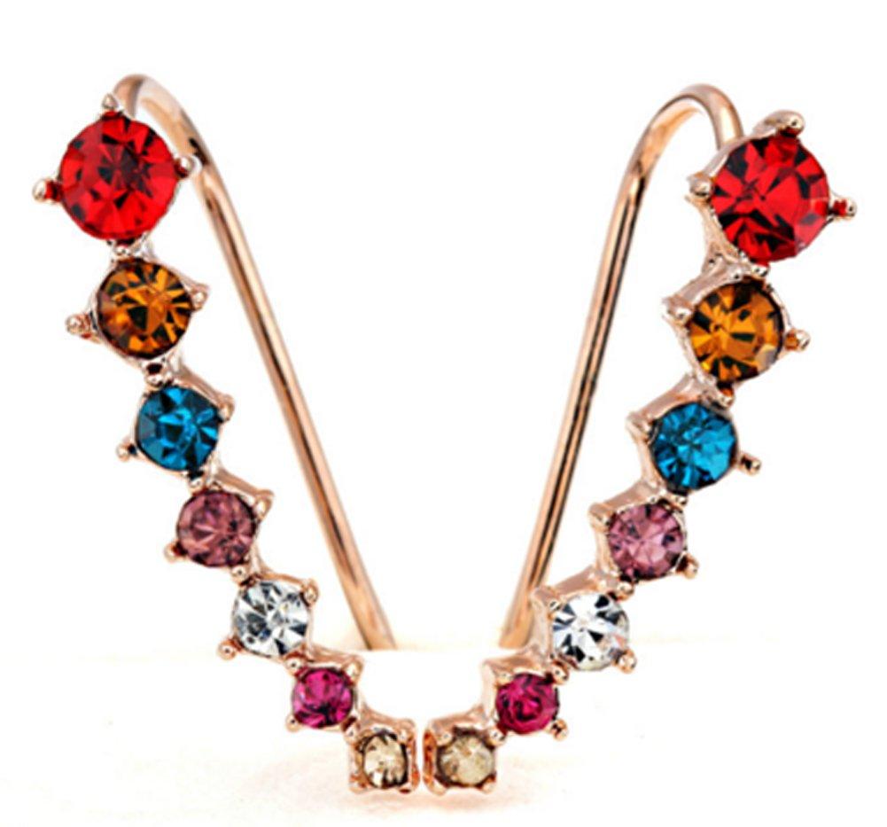 18K Gold Plated Ear Hook Stud Earrings Jewelry SaySure