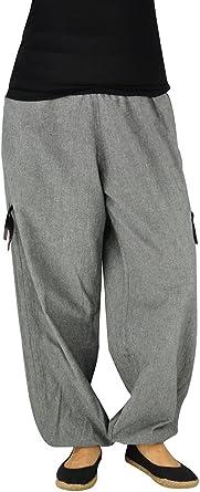 virblatt – Pantalones cagados Mujer Cargo - Praktisch Gris: Amazon ...