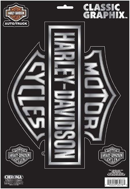 Harley Davidson Aufkleberset Bar Shield Classic Emblem Küche Haushalt