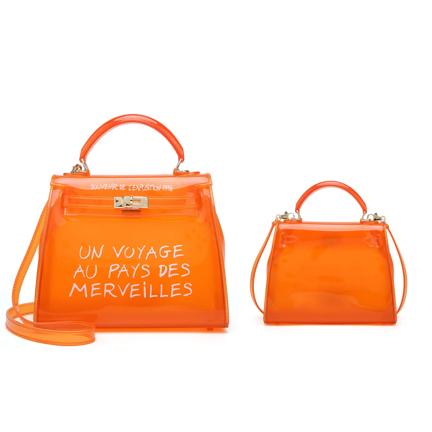 57a23cca530a Poxas Top-handle PVC Womens Shoulder Bags Jelly Candy Color Ladies ...