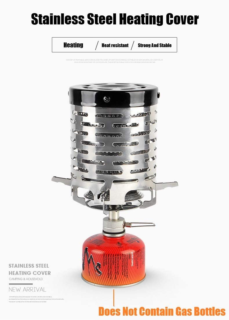 ALIXIN-Estufa de camping portátil Mini estufa de calentamiento de carpa,adaptador de calentador de estufa para mochilero al aire libre Senderismo ...