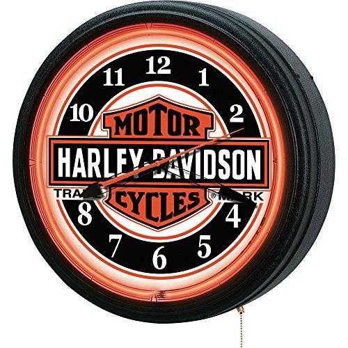 Harley-Davidson Neon Clock, 20in.D