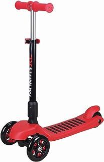 Trottinette à 3roues avec motif scooter pour enfants de 5–8ans d'âge Twist & Roll, rouge Kawin