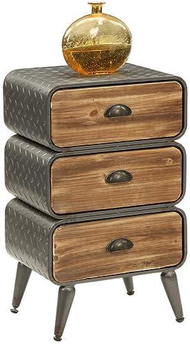 4D Concepts Urban DRAWER, Natural distressed wood Black Grey