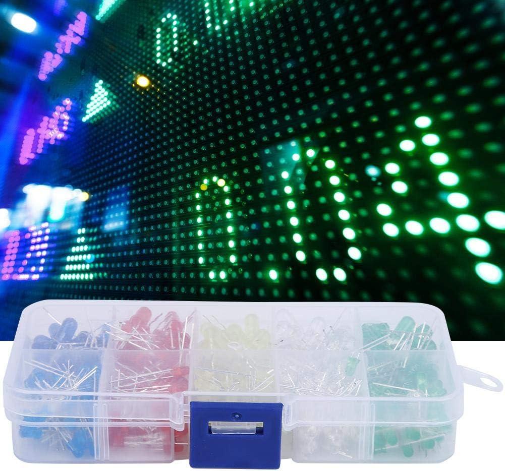 150pcs 20mA 3V LED Diodes LED Diodes Kit 3mm//5mm Red Yellow Blue Green White LED Light Emitting Diodes Set for Home Appliance