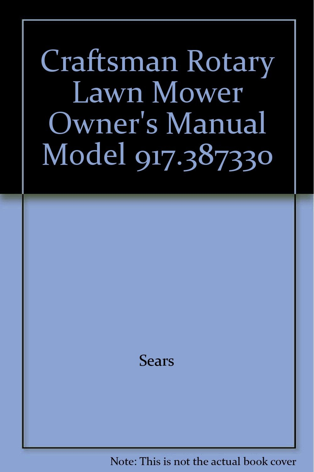 craftsman lawn mower owners manuals