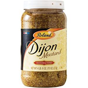 Roland Foods Grained French Dijon Mustard, Specialty Imported Food, 4.4-Pound Jar