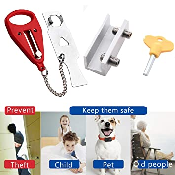 Home Door Lock Hardware Portable Tool Safety Security Privacy Travel Hotel UK