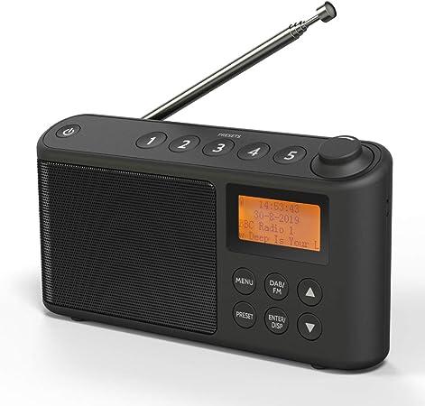 Dab Dab Plus Ukw Radio Klein Digitalradio Tragbares Batteriebetrieben Mini Radio Digital Akku Netzbetrieb Usb Ladekabel Heimkino Tv Video