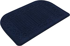 32X20 Inch Anti Fatigue Kitchen Rug Mats are Made of 100% Polypropylene Half Round Rug Cushion Specialized in Anti Slippery and Machine Washable (32x20in Navy 1pc)