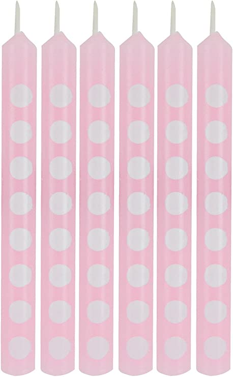 2.25 Classic Pink Creative Converting Cake Candle