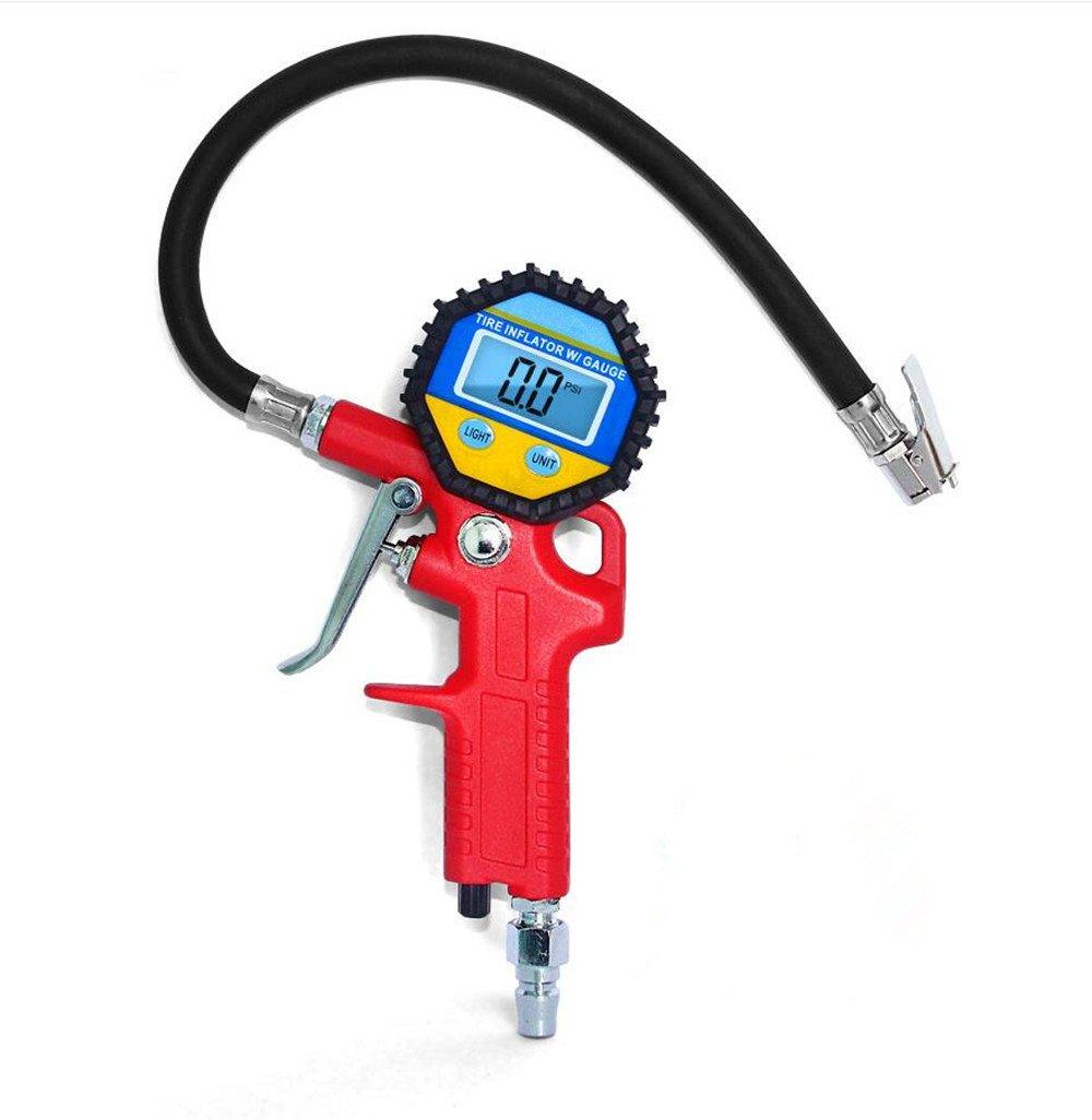 150PSI Manometro Pressione Pneumatici, Electro-Weideworld LED Pistola manometro compressore gonfiaggio gomme pneumatici per Auto Moto Camion Bici