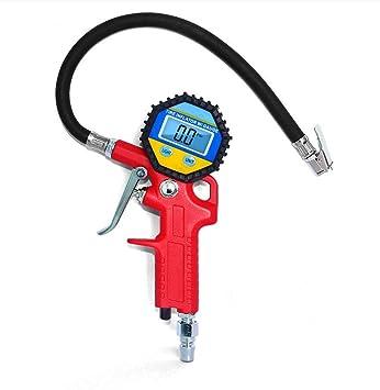Manometro neumatico,Electro-weideworld Digital eléctrico inflador de neumáticos con manguera y manómetro para