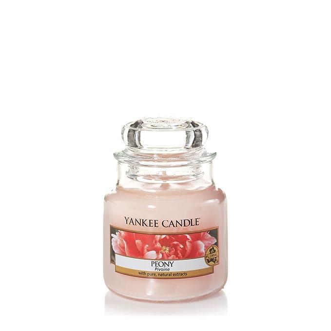 46 opinioni per Yankee candle 1507694E Peony Candele in giara piccola, Vetro, Rosa, 6.2x6x5.3 cm