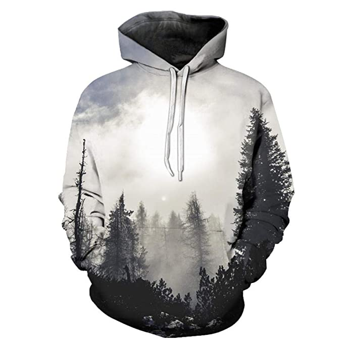 3D Foggy Forest Hoodies Sudadera Hombres Mujeres Funny Horror ...