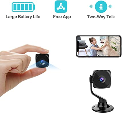 Amazon.com: Mini cámara espía inalámbrica oculta pequeña ...