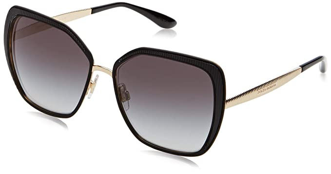 Dolce & Gabbana 0DG2197 Gafas de sol, Matte Black/Gold, 56 ...