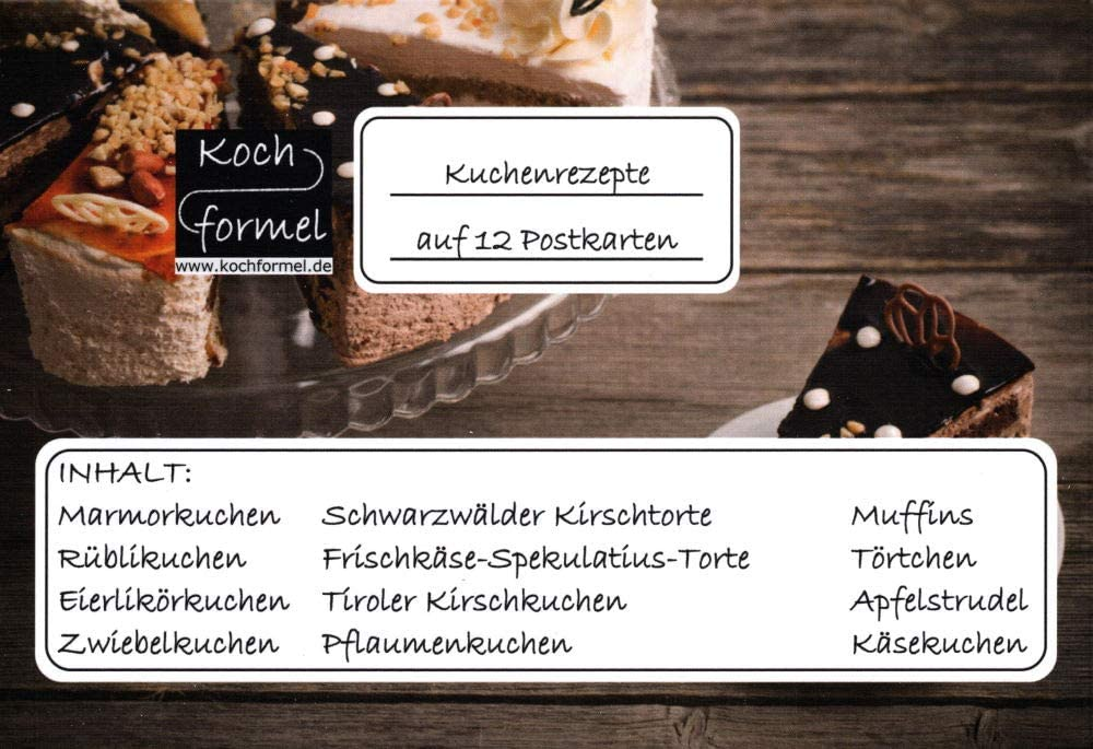"Komplett-Set /""Weihnachtsgebäck auf 12 Rezept-Postkarten/"""