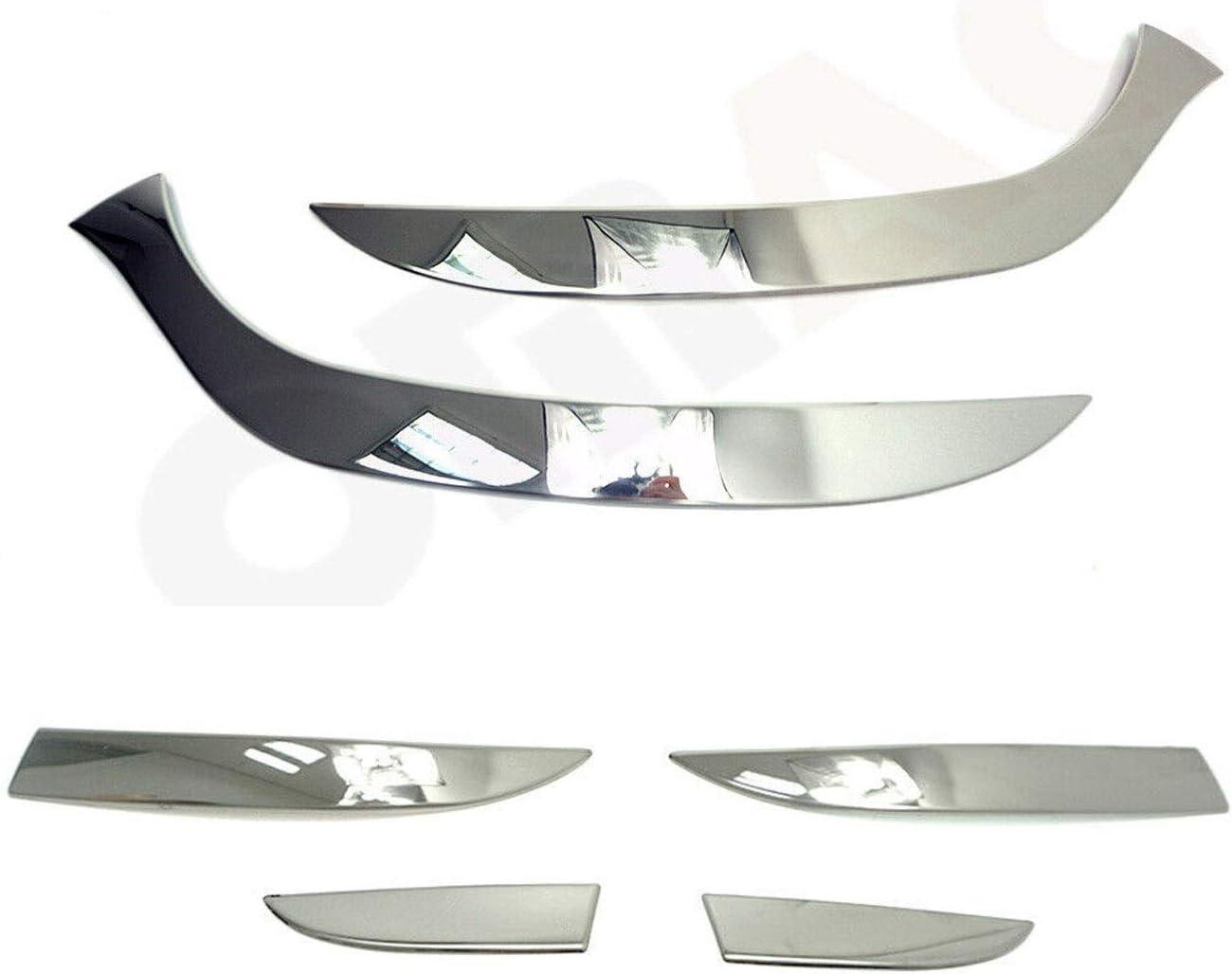 R/ücklichtleiste Zierleiste Set f/ür Clio IV 2012-2019 6 tlg aus Edelstahl Chrom Scheinwerfer Leiste