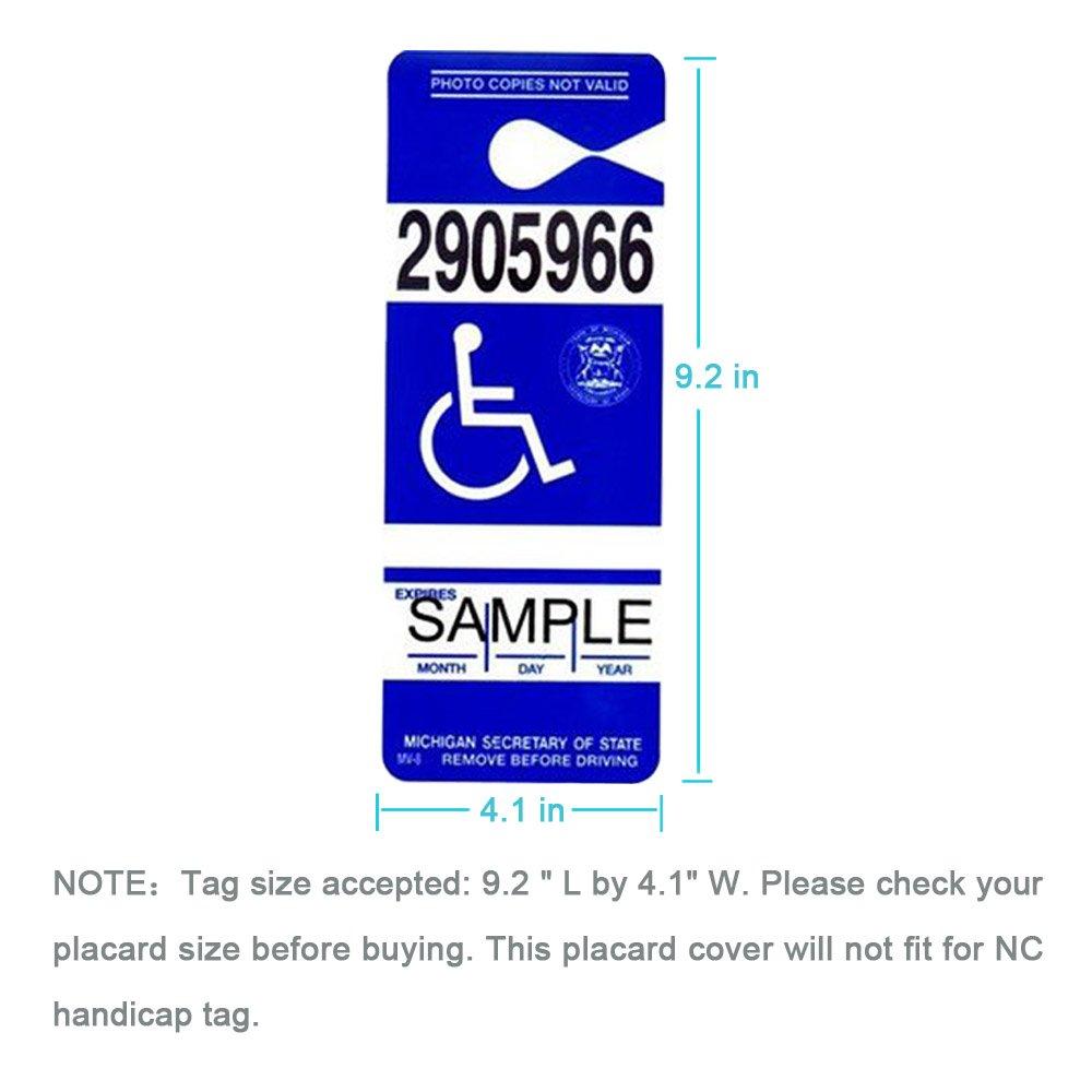 Amazon.com: Handicap Placard Holder - Ultra Transparent Disabled ...