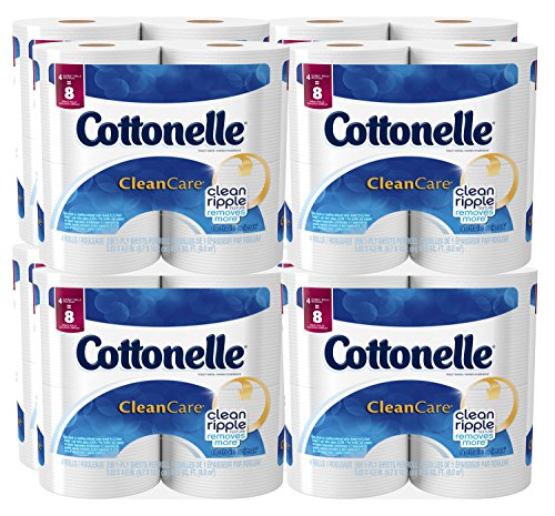 Cottonelle Clean Care Toilet Paper, Double Roll, 4 Count (Pack of 8) ()