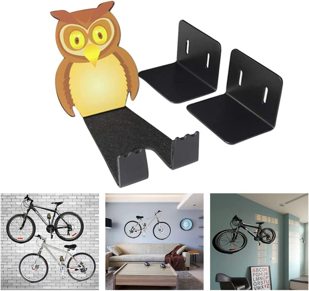 Yliquor Bicycle Hook Parking Rack Cycling Bike Equipment Display Stand Owl Wall Hanger Super Strong Heavy Duty Bicycle Stainless Steel Hooks