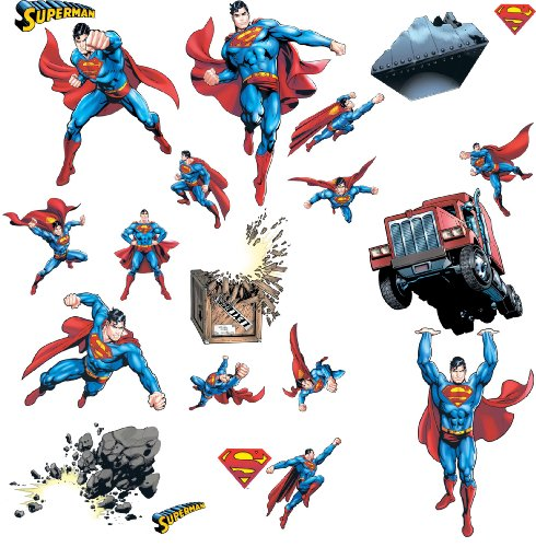 Superman Products : RoomMates RMK1194SCS Superman: Day Of Doom Peel & Stick Wall Decals