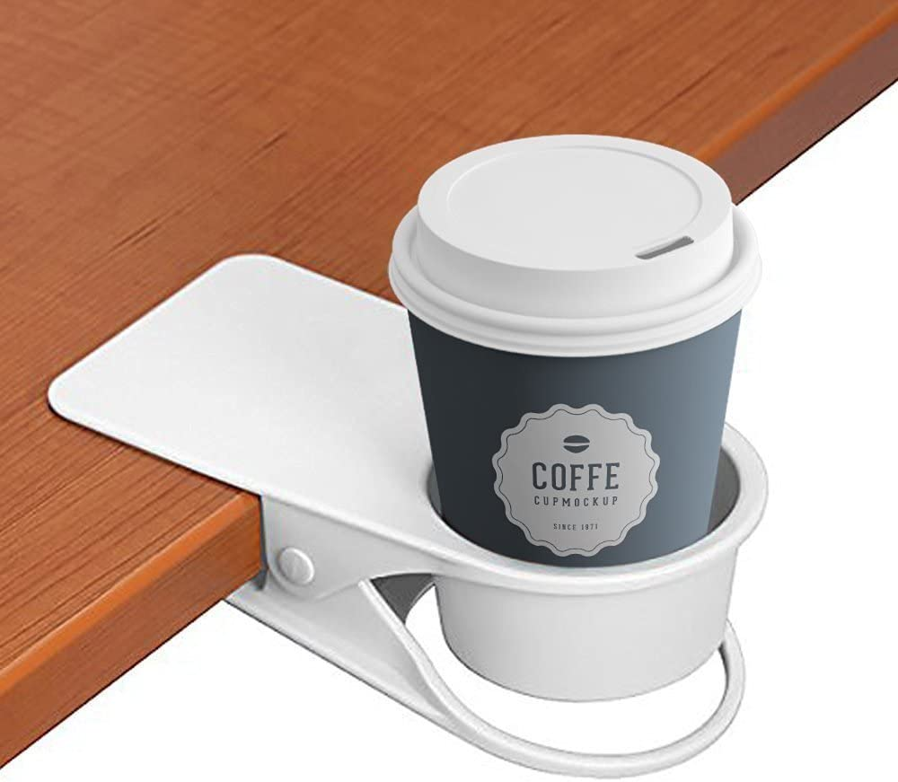 Bere Cup Holder Clip/  bordi porta-bicchieri per acqua drink Beverage soda Coffee mug White / Home auto sedia da tavolo da scrivania