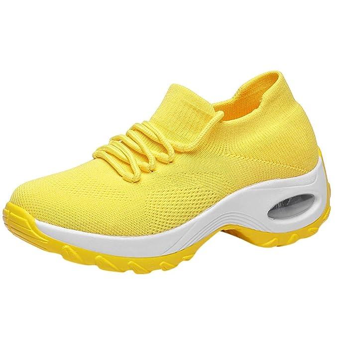 Damen Turnschuhe Sneaker Knöchelhoch Sportschuhe Atmungsaktive Mesh Laufschuhe