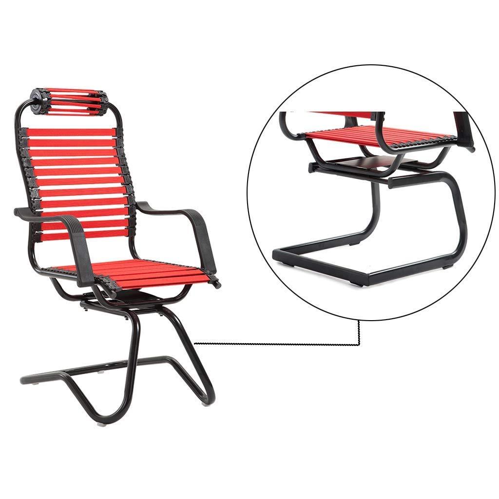 JIEER-C Ergonomisk stol skrivbordsstolar böjda kontor gäststolar hem skrivbord ergonomisk ländrygg och nackstöd ryggstöd elastiskt, platt gummiband andas med armarna Lila