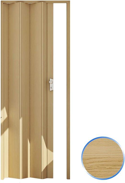Forte Puerta Plegable de Interior de PVC Haya 83x214 cm Mod.Maya ...