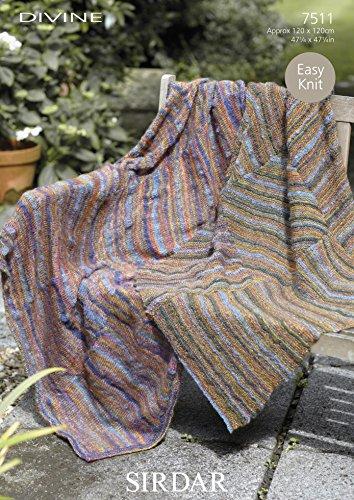 Sirdar Home Throws Divine Knitting Pattern 7511 DK