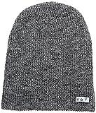neff Men's Daily Heather Beanie Hat, Black/White, One Size