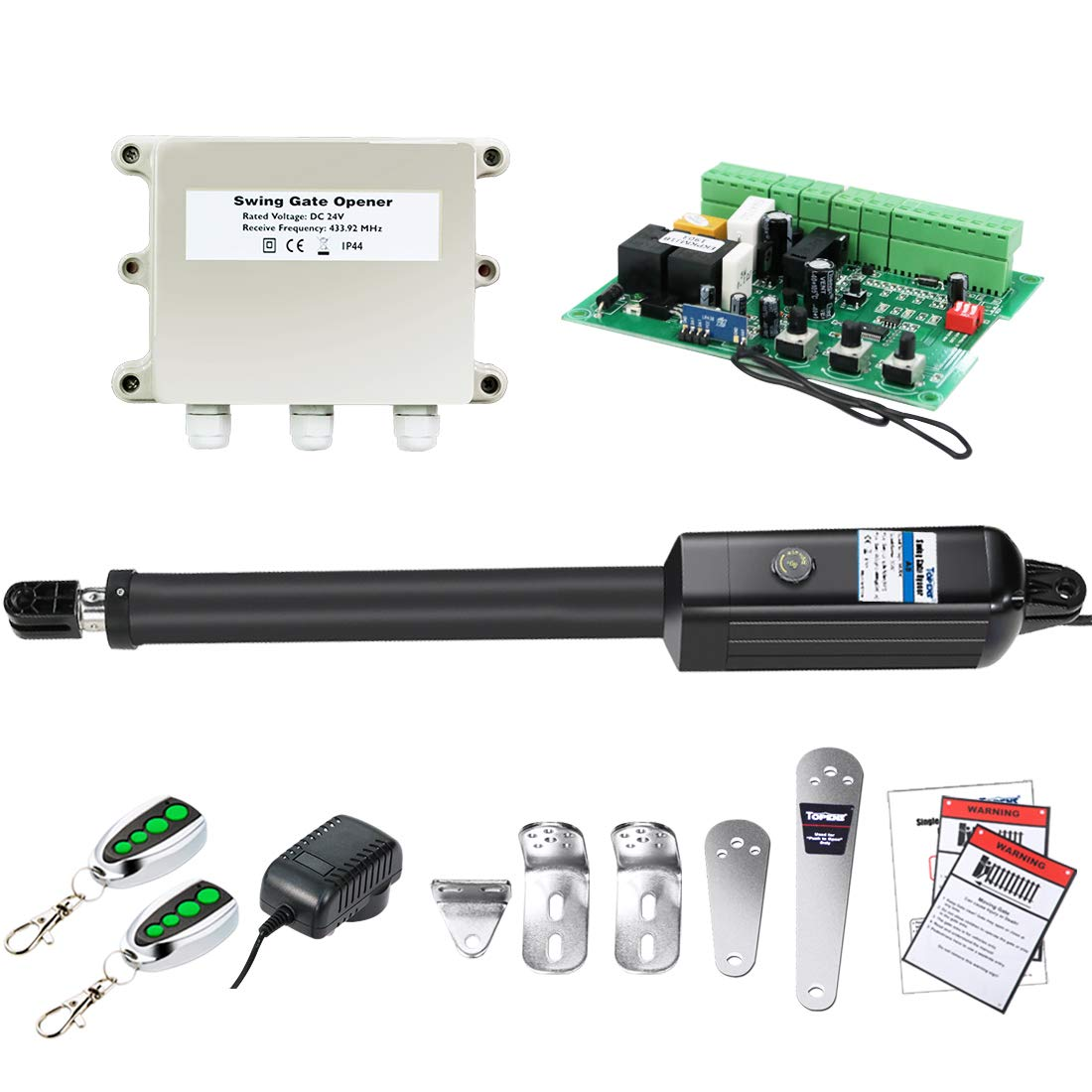 TOPENS A8 Automatic Gate Opener Kit Heavy Duty Single Gate Operator