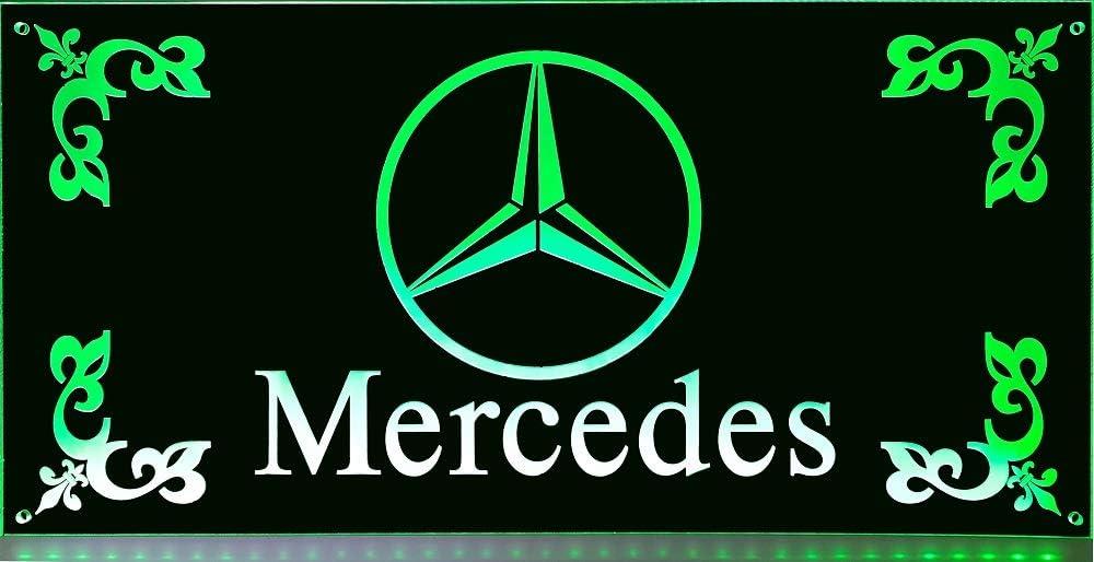 Schilderfeuerwehr LED-Leuchtschild mit Mercedes-Stern Beleuchtetes Mercedes Logo-Schild f/ür den 24Volt-Anschluss LKW-Zubeh/ör f/ür Trucker 30x15cm ✓ 18 LEDs ✓ Neonschild als Truck-Accessoire