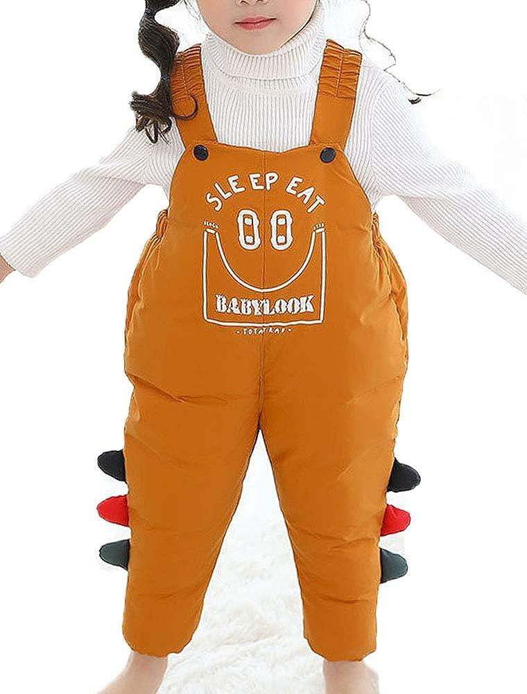 ARAUS Pantalones de Petos Beb/é Pantal/ón de Plumas Infantil Ni/ños Ni/ñas Mono Algod/ón Invierno