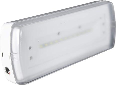 POPP® Pack de x1 x5 x10 Luz de emergencia Empotrable/Superficie LED 1.5W 200lm techo pared salida emergencia seguridad [Clase de eficiencia energética A++] (SUPERFICIE, 1 UNIDAD): Amazon.es: Iluminación