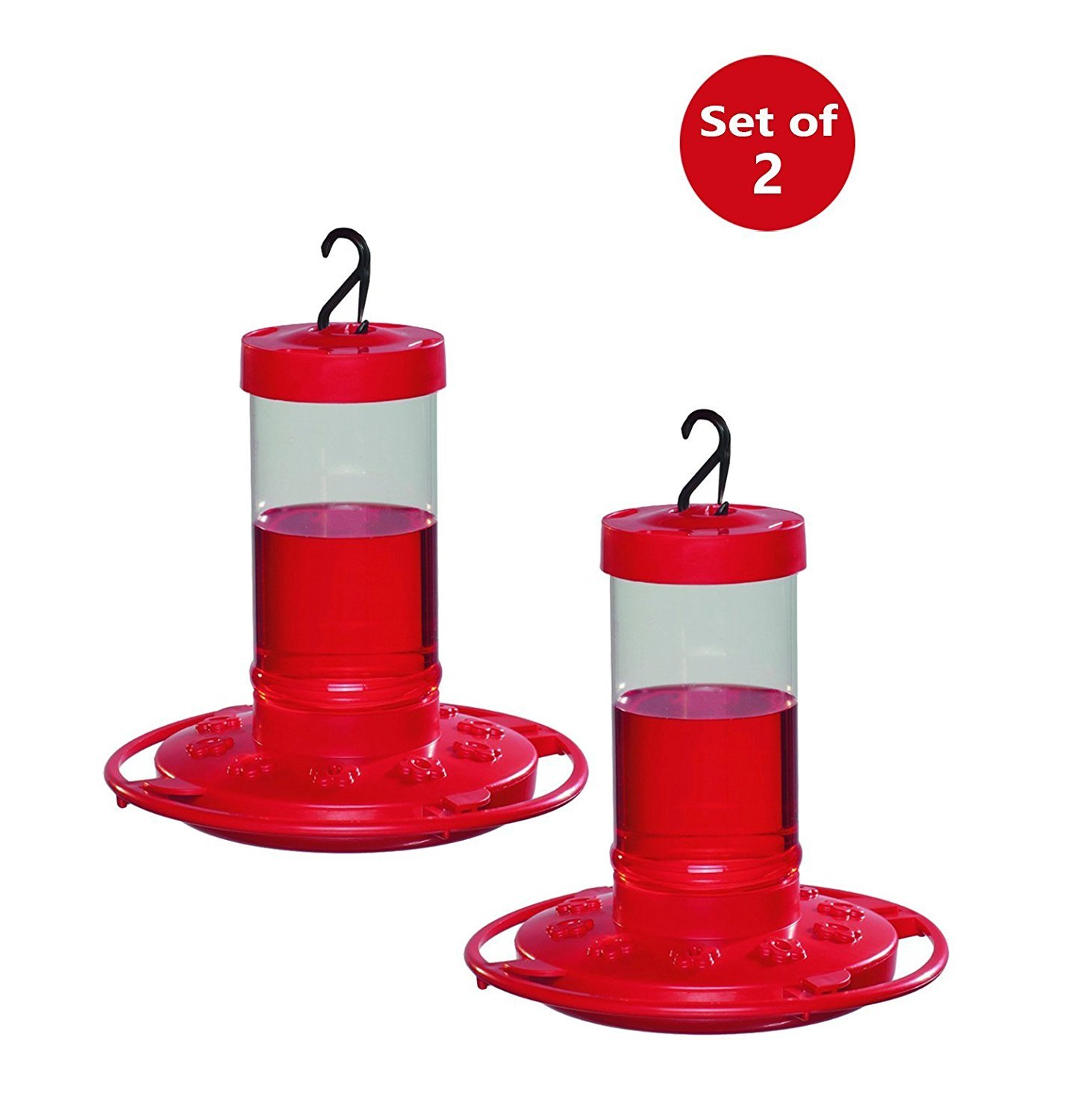 First Nature 3051 Hummingbird Feeder, 16-Ounce (2 Pack Red)