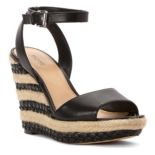 b363da5382 MICHAEL KORS donna sandali con zeppa 40S6KLHA1L KYLA WEDGE 40.5 Nero ...