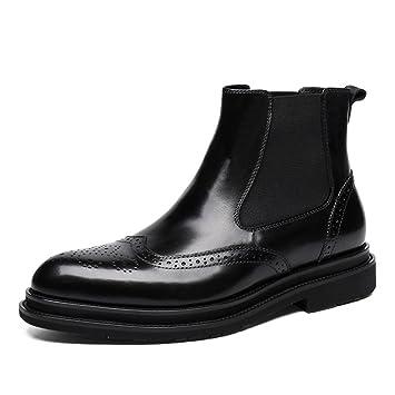 Homme Classique Commercial Leather Bottes en cuir pour hommes Chaussures à  lacets Martin Boots Bottes à 14efa8a3d80