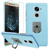 LeEco - Le S3 Case with Phone Holder + Screen Protector, Gzerma Shock-Absorbing TPU Protection Cover with 360 Rotation Kickstand and Shatterproof Protective Film for LeEco Le S3 Smartphone (Blue)