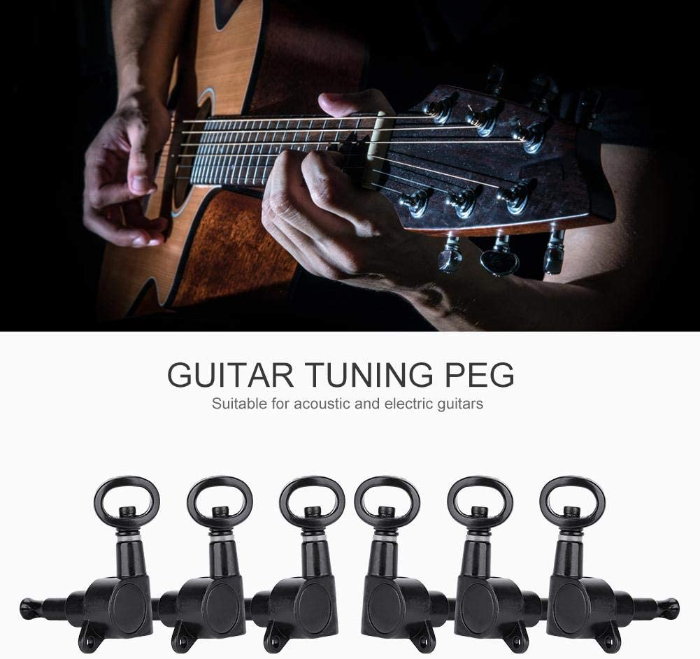 Hollow Handle Guitar Machine Heads POCREATION Guitar Tuning Pegs Durable for Electric/ Guitar Guitar Tuning Tool Acoustic