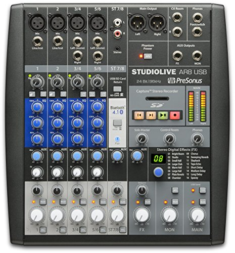 (PreSonus StudioLive AR8 USB 8-Channel hybrid Performance and Recording Mixer)