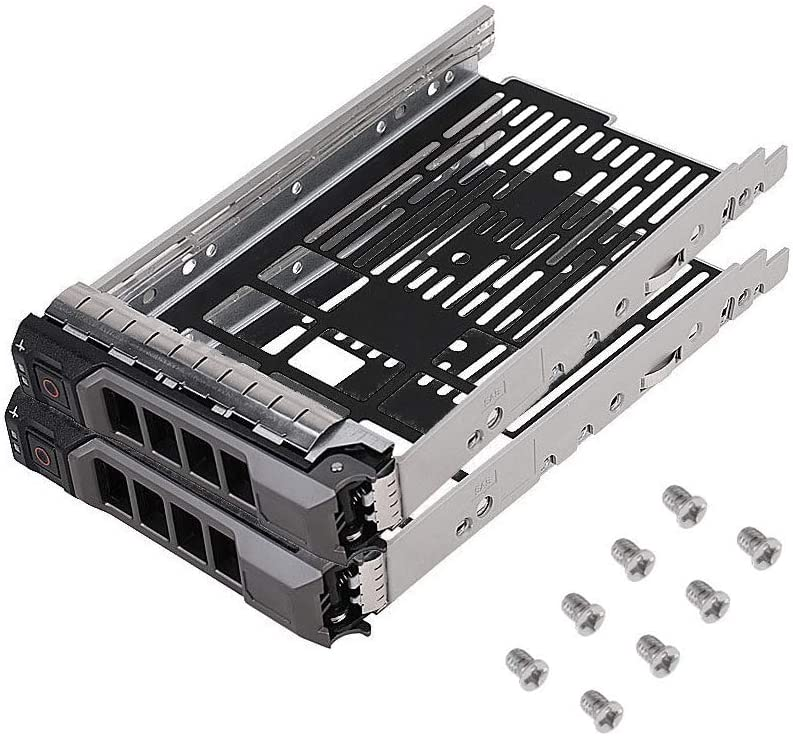 "WYDZKJ {2pcs Pack}3.5"" F238F SAS SATA SATAu Hard Drive Caddy Tray Enclosure Compatible for DELL PowerEdge R310 R320 R410 R415 R510 R515 R610 R710 T610 T710"