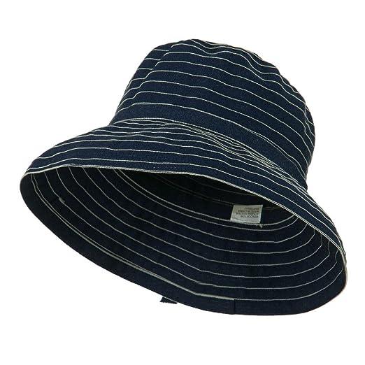 0e7417bebf1 Woman s UPF 50+ Large Brim Bucket Hat - Denim OSFM at Amazon Women s ...