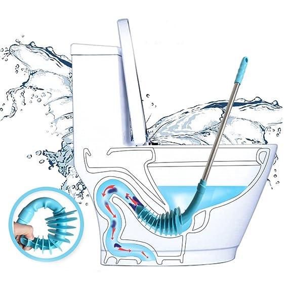 Amazon.com: Toilet Plunger, Budalga Piston Type Toilet Dredge Pipe Designed for Siphon-Type Flush Toilet, Powerful Direct Push Toilet Clog Cleaning Tools ...