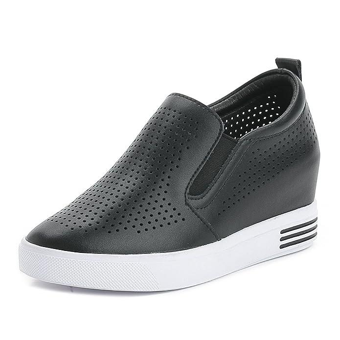 Easemax Damen Modisch High Top Mesh Atmungsaktive Sneakers Mit Elastisch Schwarz 35 EU 6uqK9fhi