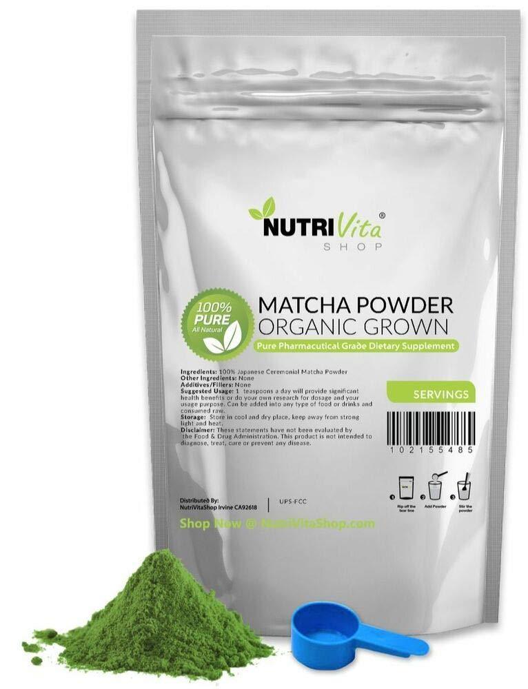 500g (1.1lb) 100% Pure Matcha Green Tea Powder Organically Grown Japanese nonGMO Y57147 by nutrivitashop