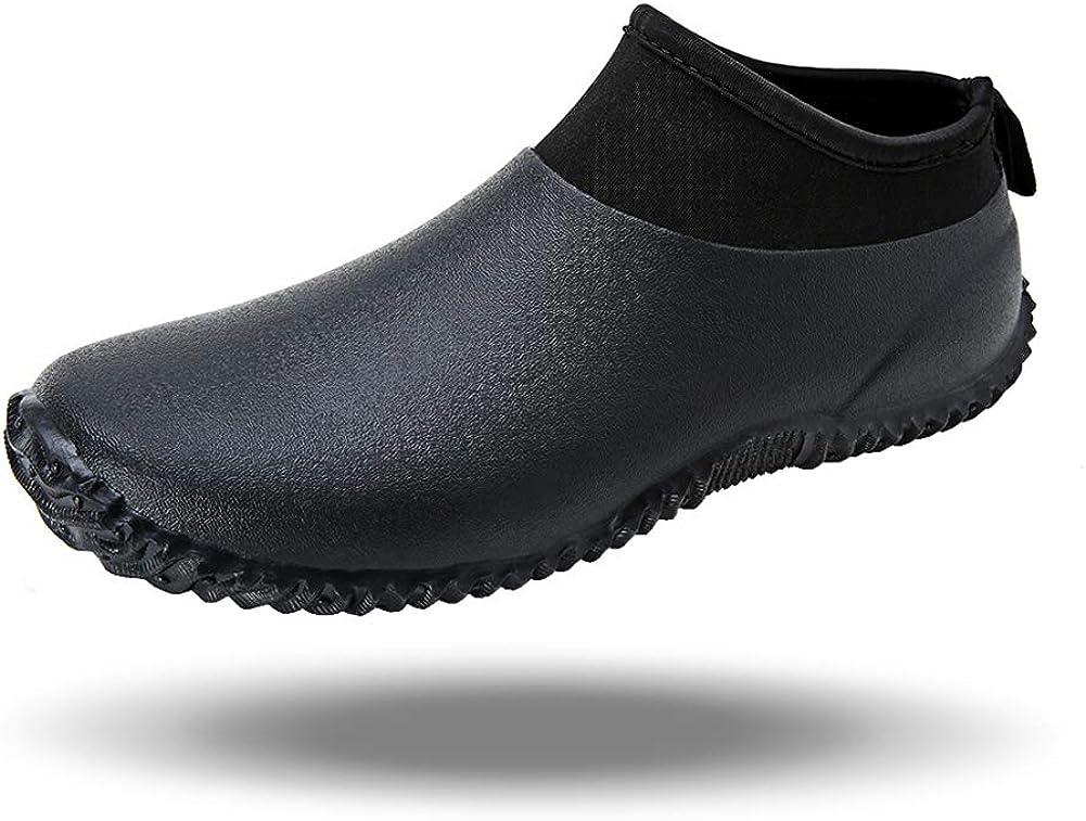Amazon.com | babaka Men's Rain Shoes Garden Waterproof Women's Rain Boots  Rubber Outdoor Footwear | Rain Footwear